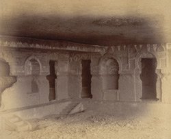 Interior of Buddhist vihara, Cave VII, Nadsur 10032617